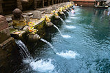Balinese holy springs in Tirta Empul temple