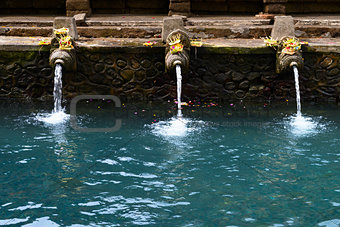 Fountains in Tirta Empul temple, Bali, Indonesia