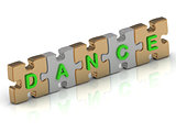 DANCE word of gold puzzle