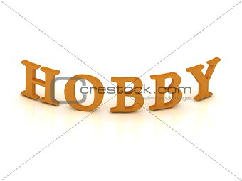 HOBBY sign with orange letters