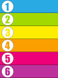 Set of Colorful Banners with Numbers