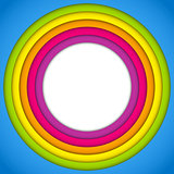 Colorful Frame with Circles Rainbow