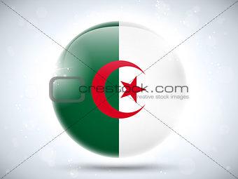 Algeria Flag Glossy Button