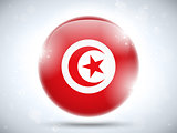 Tunisia Flag Glossy Button