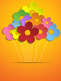 Beautiful Spring Colorful Flowers Background
