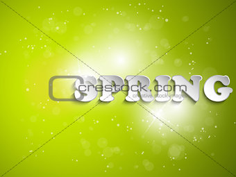 Green Spring Background With Light