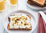 Ricotta Pistachio Toast