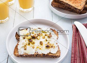 Ricotta Pistachio Toast