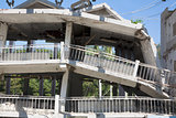 building destroyed during the earthquake