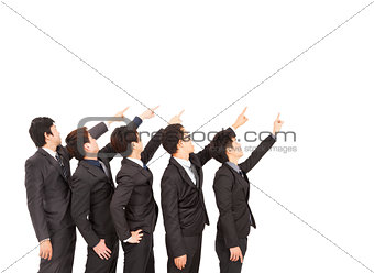 business group hand pointing to same direction