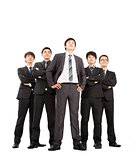 full length of successful business team