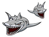 Gray shark mascot