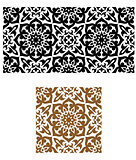 Arabic seamless ornament in retro style