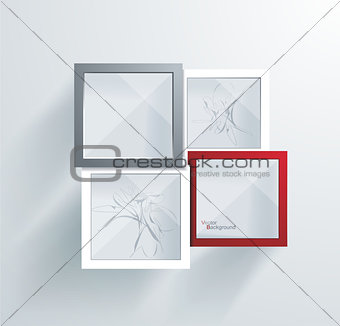 Paper Frames. Abstract 3D Geometrical Design