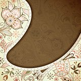 Abstract Curve Floral Background