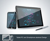 Set of vector blank generic tablet pc and smartphones.