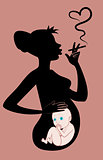Smoking pregnant woman