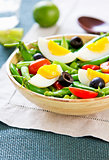 Green bean with Snap pea and egg salad