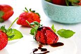 Strawberry with Balsamic sauce