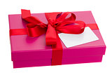 gift box with blank card