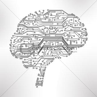 circuit board vector background