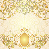 Gold easter vintage frame