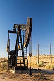 Oil field in desert
