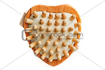 Massage brush in a heart shape