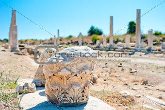 Ruins of old city Side, Antalya, Turkey