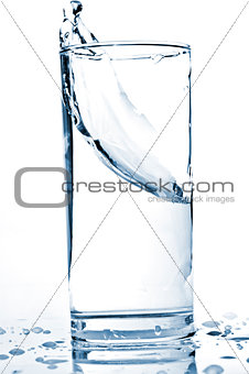 water splash in a glass