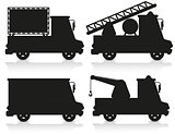 car icon set black silhouette vector illustration