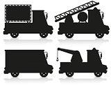 car icon set black silhouette vector illustration