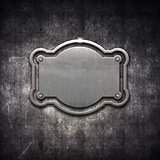 Metal frame on grunge background