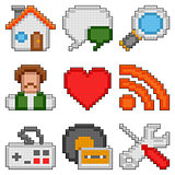 Pixel web icons.