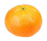 One full fruit of orange tangerine