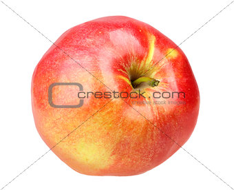 Single a fresh red-yellow apple