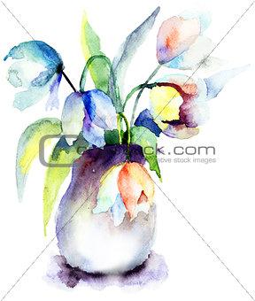 Beautiful Blue Tulips flowers