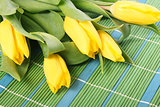 Tulips on placemats