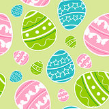 Green Easter seamless pattern
