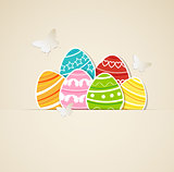 Paper Easter background
