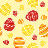 Yellow Easter seamless pattern