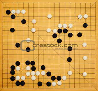 Game of go top view