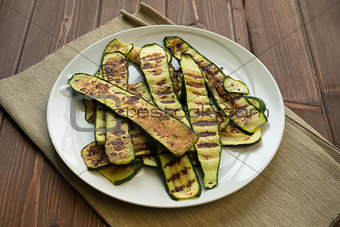 Grilled zucchinis