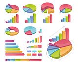 Set Of Coloured Charts