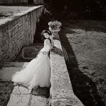 gorgeous bride outdoors