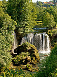 Rastoke, Croatia, waterfall in green nature