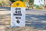 413 kilometers to Dwarka milestone