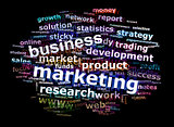 Business Marketing Word Cloud Advertising Concept