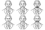Barack Obama Cartoon Faces