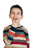 Child shows his tooth